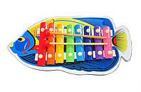 Ксилофон «Рыбка» детская музыкальная игрушка.