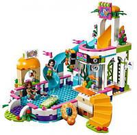 Детский конструктор Friends 10611 Летний бассейн Хартлейк Аквапарк (аналог LEGO Friends) 593 дет