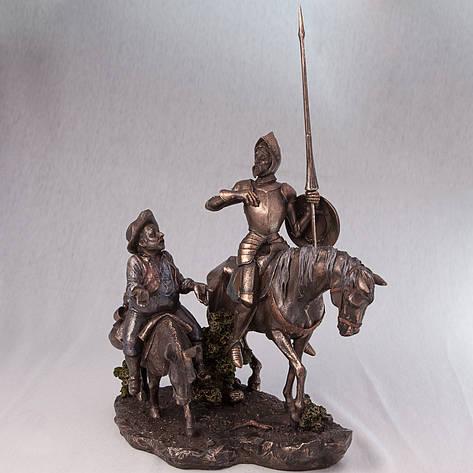 Статуетка Дон Кіхот і Санчо Панса Veronese Італія (31 см) 75196 A4, фото 2