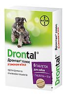 Таблетки Bayer Drontal Дронтал Плюс, со вкусом мяса, 6 шт 061.0065