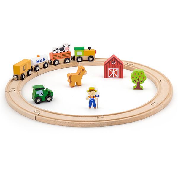 Набор «Железная дорога» (19 деталей) Viga Toys (51615)