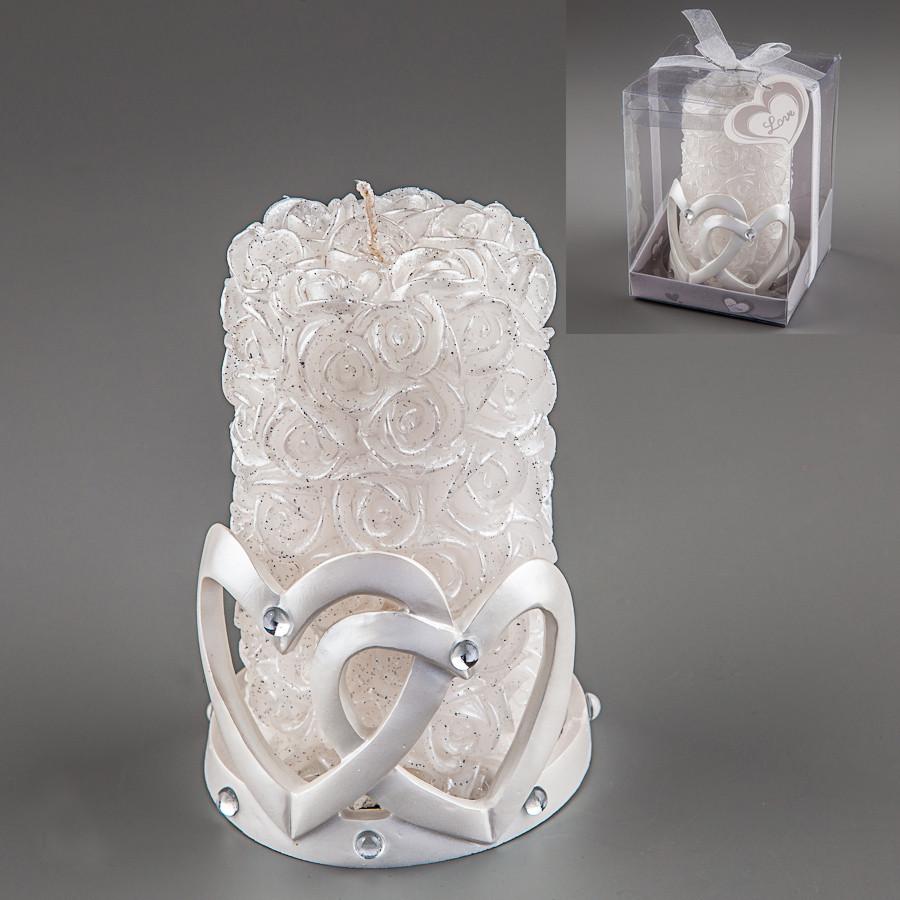 Весільна свічка Серця 13 см 012Q