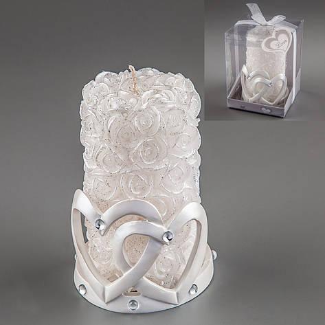 Весільна свічка Серця 13 см 012Q, фото 2