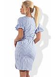 Хлопковое платье с коротким рукавом и поясом Д-1294, фото 2