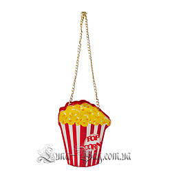 Женская сумка в виде (POP CORN) Цвет Красный