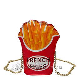 Женская сумка в виде (Картошки Фри - FRENCH FRIES ) Цвет Красный