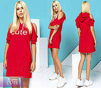 Платье Cute красный / серый / черный , фото 1