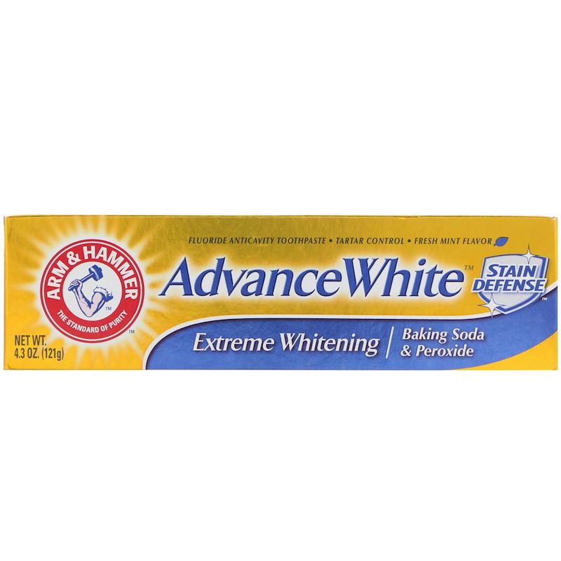 Arm & Hammer, AdvanceWhite Baking Soda & Peroxide Toothpaste, Extreme Whitening, 4.3 oz (121 g)