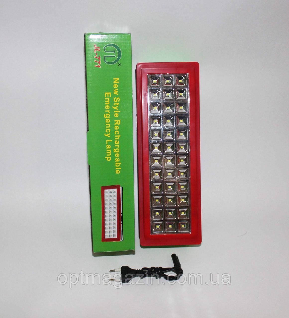 Фонарь светодиодный   JL-771 с аккумулятором 36 диодова\ фонарь авврийный 771 36 диодов