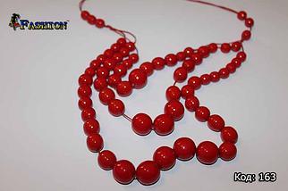 Червоні жіночі буси Злата, фото 3