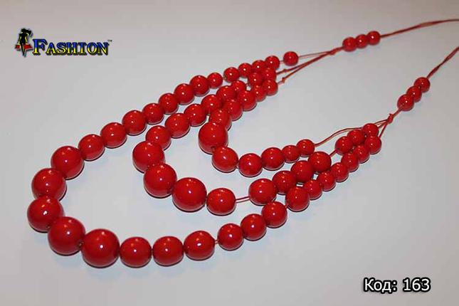 Червоні жіночі буси Злата, фото 2