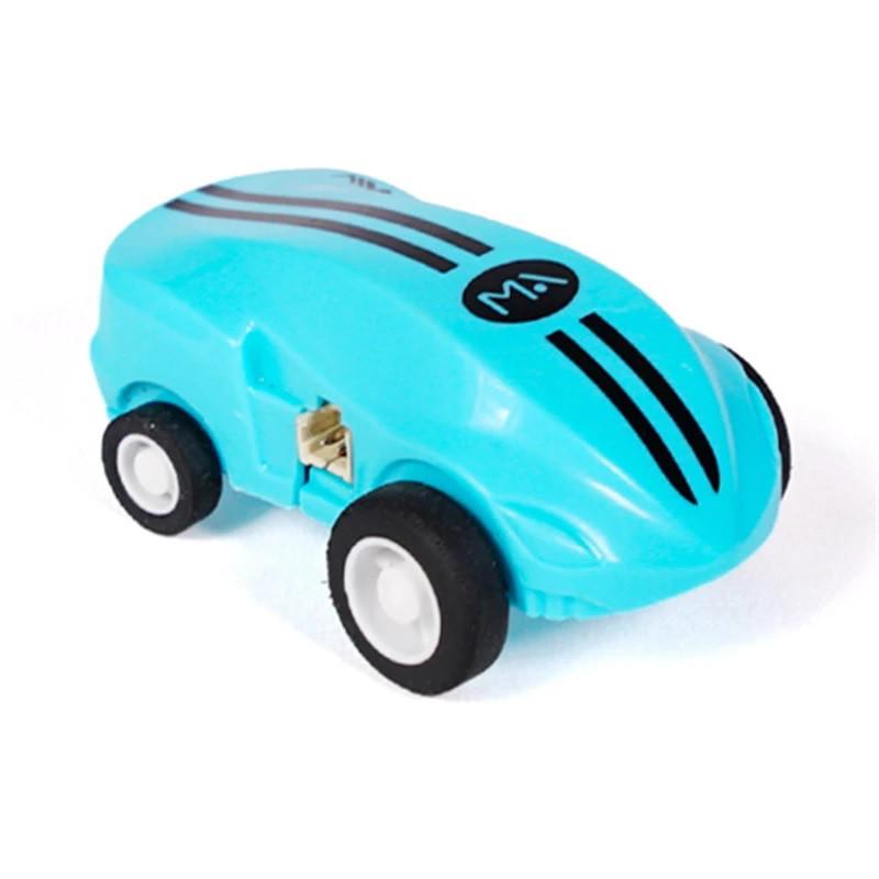 Игрушка SUNROZ S168 Rapid Monster мини машинка с лазером в прозрачной колбе, лазерная колесница Синий(SUN0870)
