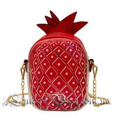 Женская сумка ( Ананас ) 4 Цвета Красный (18x15x6 cm.)