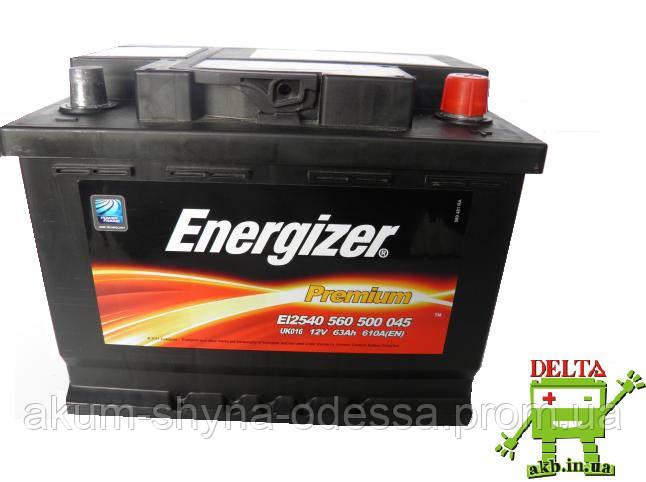 Аккумулятор Energizer (Енерджайзер) 63Ач 610А(EN) R+
