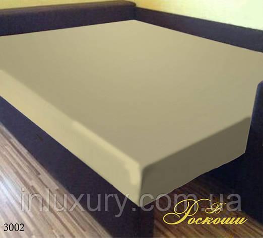 """Простынь на резинке """"Однотон кремовый"""" 160х200х20, фото 2"""
