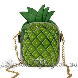 Женская сумка ( Ананас ) 4 Цвета Зеленый (1 8x15x6 cm.)