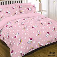 Комплект постельного белья ранфорс 17167 розовый