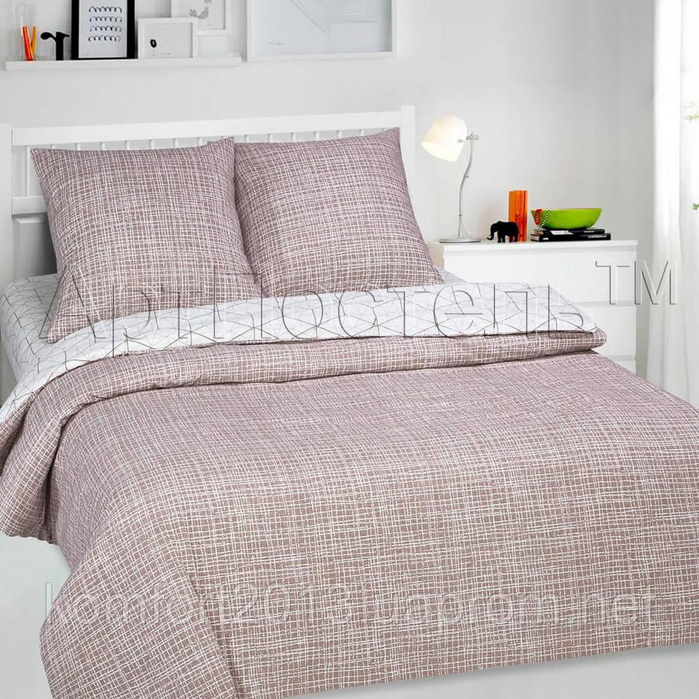 Полуторное постельное белье, Кардинал люкс, поплин 100%хлопок