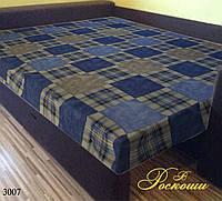 Простынь на резинке «Шотландка синяя» 160х200х20
