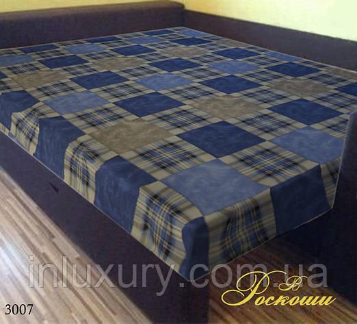 Простынь на резинке «Шотландка синяя» 160х200х20, фото 2