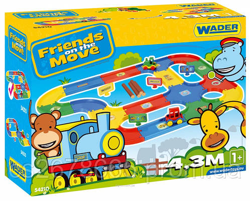 "Игровой набор ""Friends on the move"" — траса 4,3 м Wader 54210"
