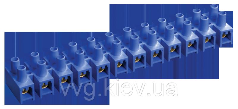 Зажим винтовой ЗВИ-100 н/г 10-25мм2 12пар синий IEK