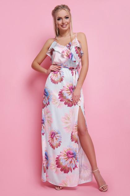 bcbdbb100b3 Легкое шелковое платье-сарафан в пол 42-46