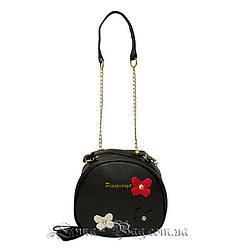 Женская сумка с Цветками 3 Цвета Черный (18x16x7 cm.)