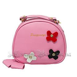 Женская сумка с Цветками 3 Цвета Розовый (18x16x7 cm.)