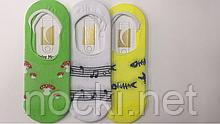 """Шкарпетки жіночі сліди сітка кольорові бавовна """"Calze moda"""",But"""