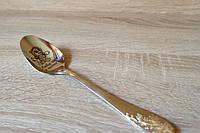 Оригинальный подарок на крестины ложка с именем гравировка под заказ