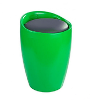 Пуф Мари, пластик, подушка, кожзам, цвет зеленый