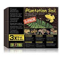 Субстрат для террариума кокосовая крошка ExoTerra Plantation soil 3х8,8 л (Hagen РТ 2771)