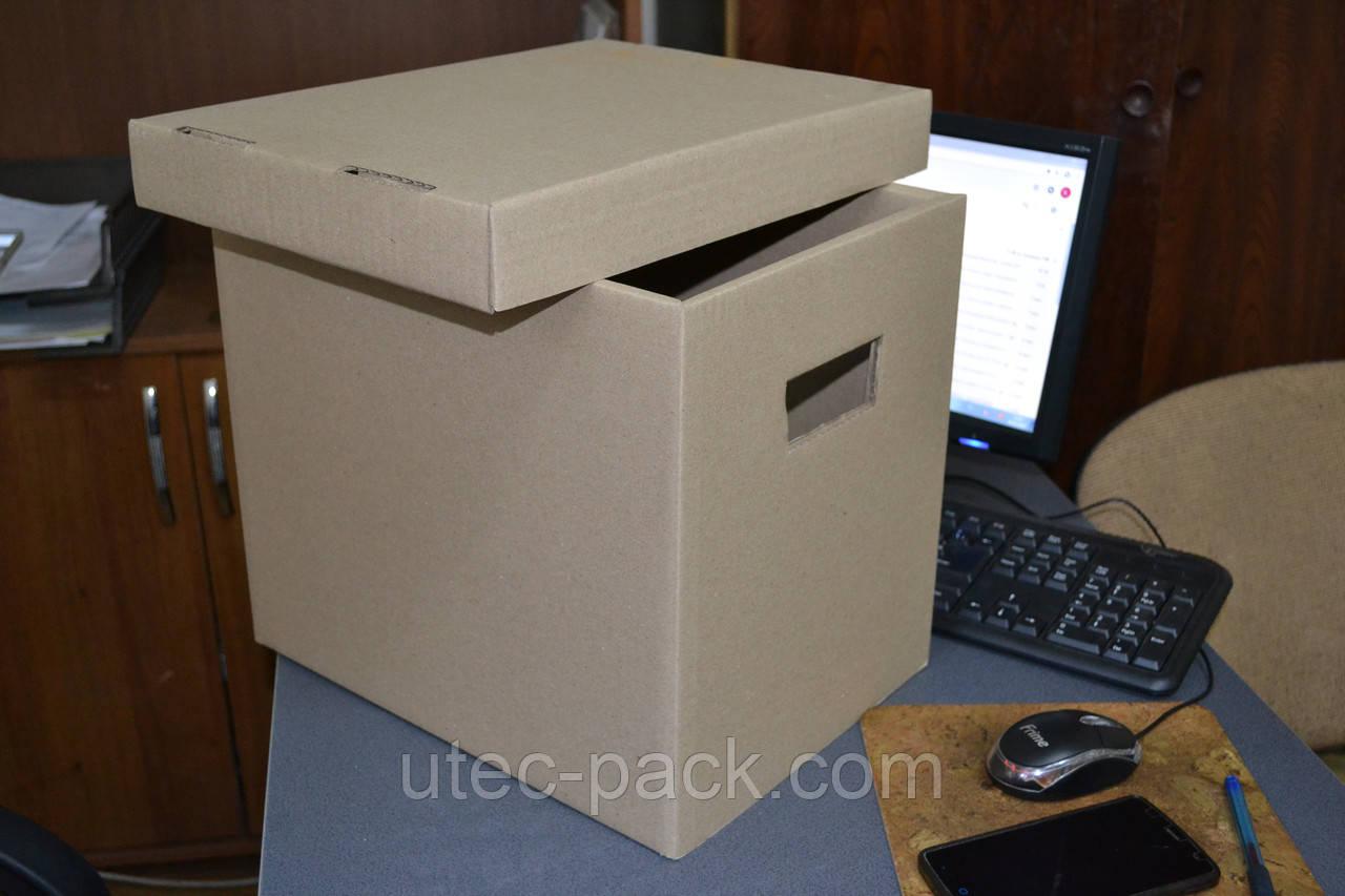 Короб архивный гофрокартон 335*245*300 мм
