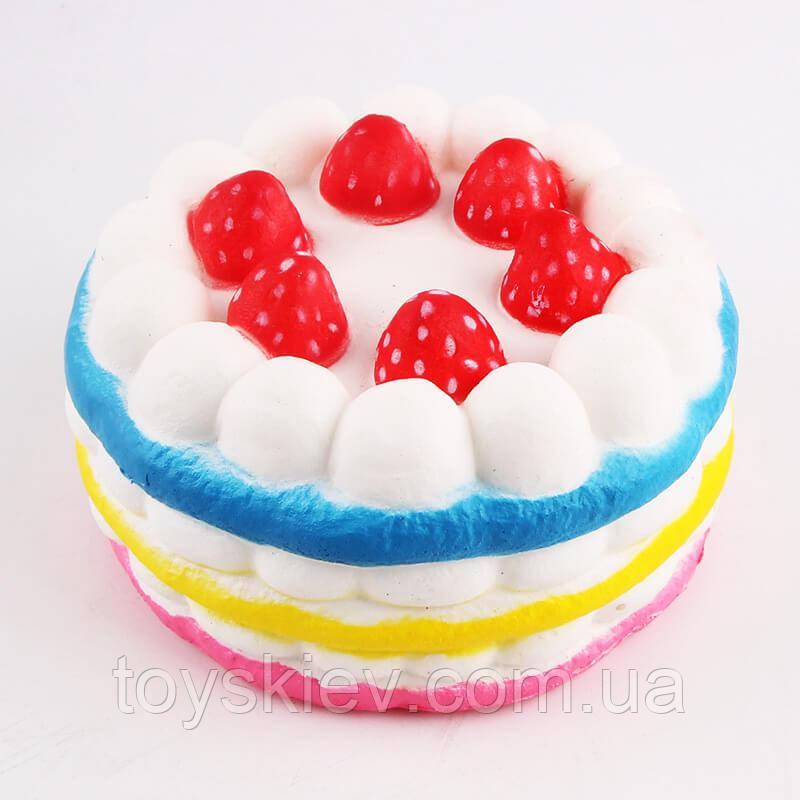 Сквиши SQUISHY торт Сквиш Антистресс игрушка ароматная большая