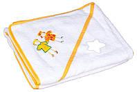 Полотенце Baby Nito 100x100 в коробке Белый с апликацией (девочки)