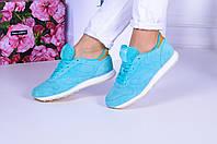 Голубые замшевые кроссовки Reebok. Аналог, фото 1