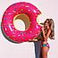 Надувной круг Надкушенный Пончик 70 см розовый, шоколадный, фото 4