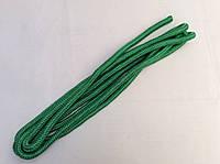 Скакалка гимнастическая, цветная ткань,длина 3метра зеленая