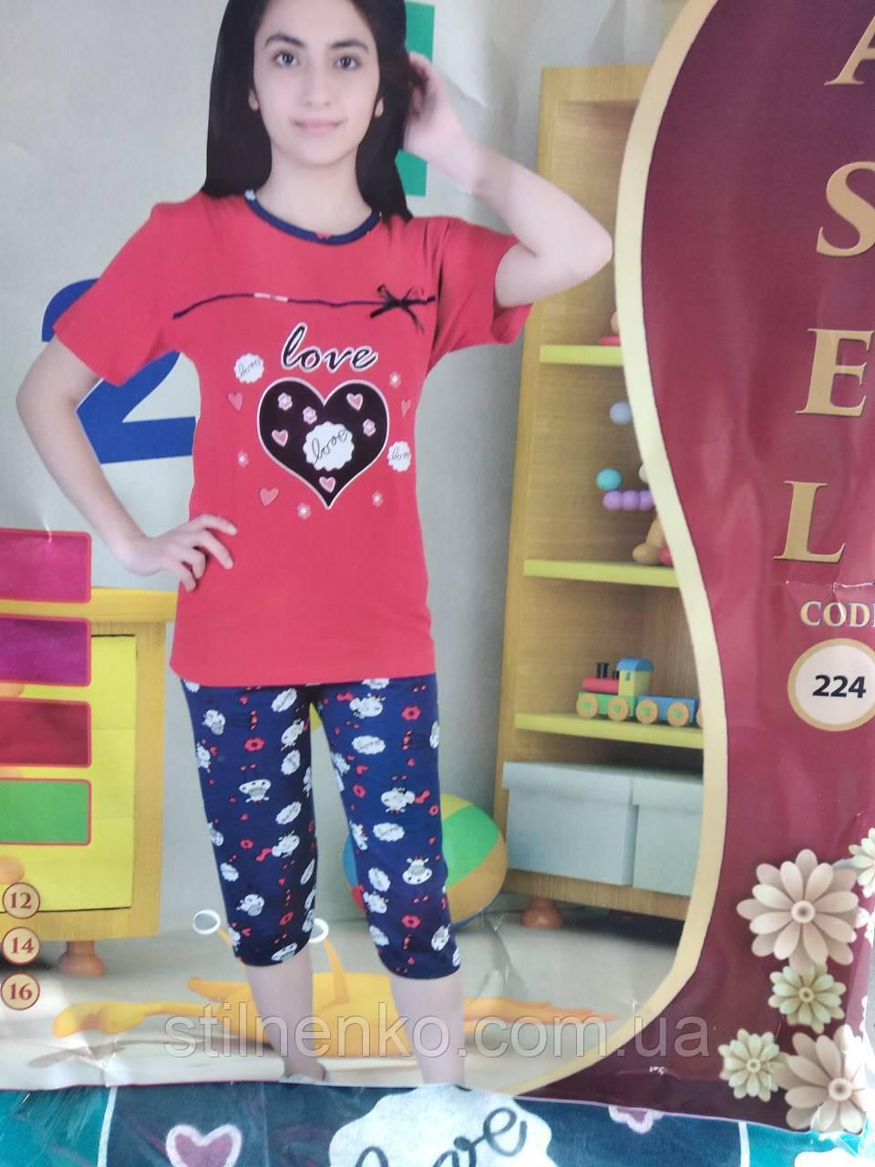Детская пижама Asel бриджы+футболка