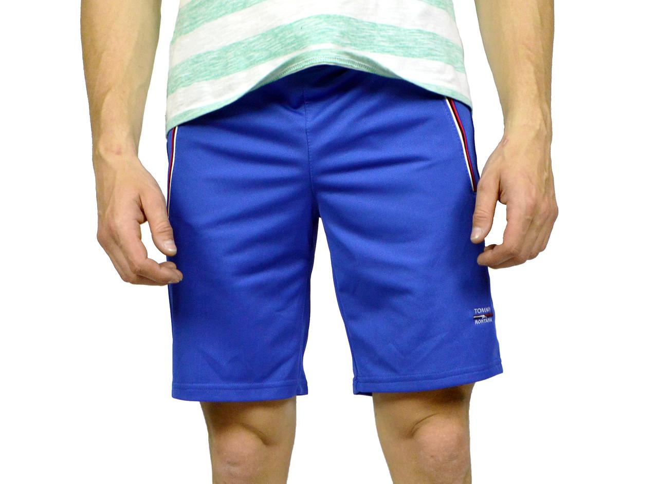 Синие мужские шорты TOMMY MONTANA на лето -