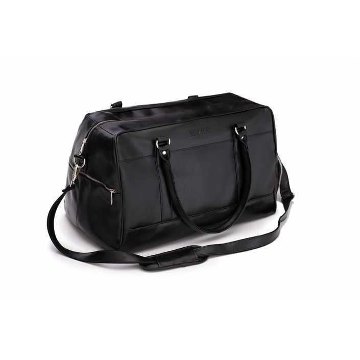Спортивная мужская дорожная сумка GOVAN на плечо черная Solier S18