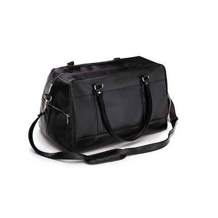 Спортивная мужская дорожная сумка GOVAN на плечо черная Solier S18, фото 2
