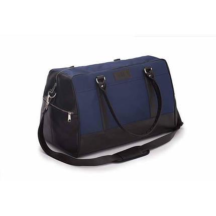 Спортивная мужская дорожная сумка GOVAN на плечо сине коричневая Solier S18, фото 2