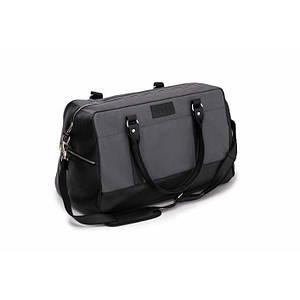 Спортивная мужская дорожная сумка GOVAN на плечо Серо-черная Solier S18