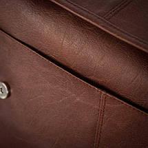 Мужская кожаная сумка на плечо Solier S15 светло-коричневая, фото 3