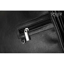Мужская сумка на плечо Solier S12 черная, фото 3