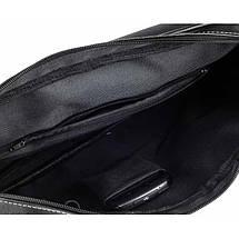 Мужская кожаная сумка на плечо Solier S15 черная, фото 2