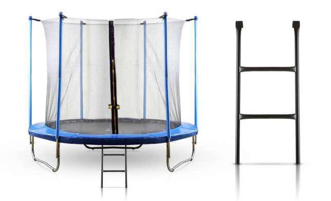 Батут TOTAL SPORT 252 см с сеткой и лестницей, фото 2