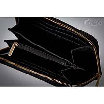 Кошелек женский кожаный Felice P02  черный, фото 2